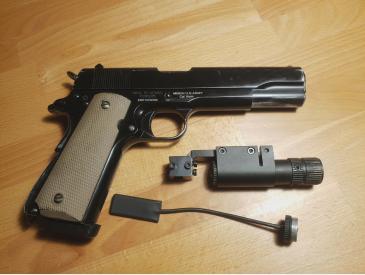 Colt m1911A1 airsoft kjw + Holster + Laser - 2