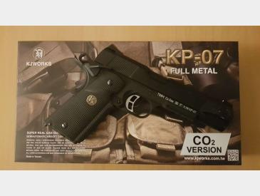 Vand Pistol Airsoft KJ Works M1911 MEU Full Metal