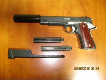 pistol Colt AEP +2 incarcatoare +1 incarcator 100bb