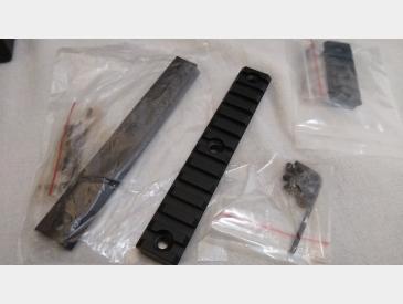 Keymod Picatinny Rail Sina 5, 7, 13 slot 20mm Picatinny Rail Aluminum - 5