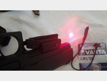 Laser tactic profil subtire montura picatinny 20mm red dot laser sight - 4