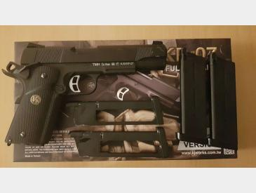 Vand Pistol Airsoft KJ Works M1911 MEU Full Metal - 2