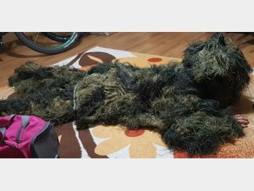 Costum Ghillie, camuflaj woodland NOU